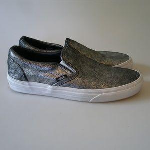 94558258d85e Vans Shoes - SILVER METALLIC SLIP ON VANS WOMENS SZ 10 MENS 8.5